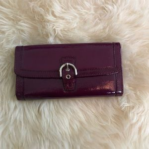 Coach Soho Patent Buckle Envelope Wallet